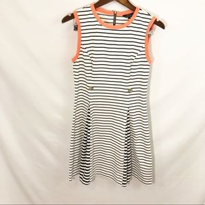 Ted Baker London Black and White Dress Size 2